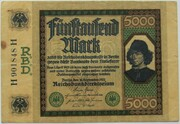 5000 Mark (Reichsbanknote) – avers