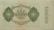 10000 mark (Reichsbanknote, petit format) -  revers