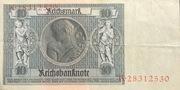 10 Reichsmark -  revers