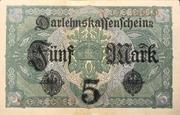 5 Mark (Darlehnskassenschein) -  revers