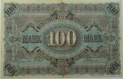 100 Mark (Sächsische Bank) – revers
