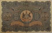 100 Mark (Württembergische Notenbank) – revers