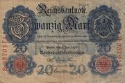 20 Mark Reichsbanknote – avers