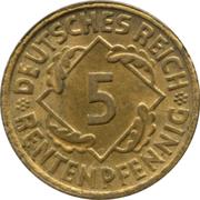 5 rentenpfennig – revers