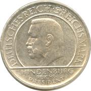 3 reichsmark (Constitution de Weimar) -  avers