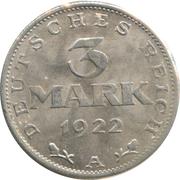 3 marks – revers