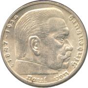5 reichsmark (Paul von Hindenburg) -  revers