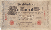 1000 Mark Reichsbanknote - red seal – avers
