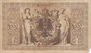 1000 Mark Reichsbanknote - red seal – revers