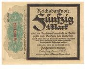 50 Mark Reichsbanknote – avers