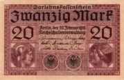 20 mark (Darlehnskassenschein) – avers