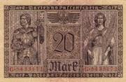 20 mark (Darlehnskassenschein) – revers