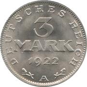 3 marks (Constitution de Weimar) – revers