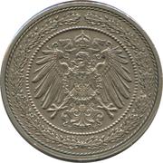 20 pfennig - Wilhelm II (grand aigle) – avers
