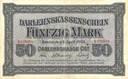 50 Marks (Darlehnskassenschein) – avers