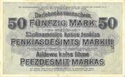 50 Marks (Darlehnskassenschein) – revers