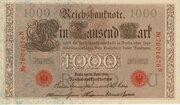 1000 mark (Reichsbanknote) – avers