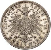 2 Mark - Wilhelm I (Pattern) – revers