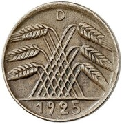 5 Reichspfennig (Pattern) – avers