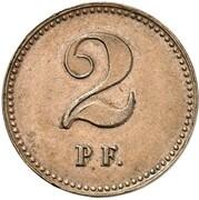 2 Pfennig - Wilhelm I (Pattern) – revers
