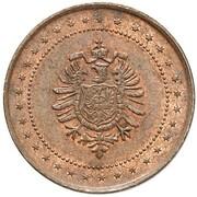 2 Pfennig - Wilhelm I (Pattern) – avers
