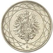 20 Pfennig - Wilhelm I (Pattern) – avers