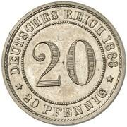 20 Pfennig - Wilhelm I (Pattern) – revers