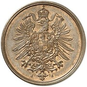 20 Pfennig - Wilhelm I (type 1 - large shield - Pattern) – avers