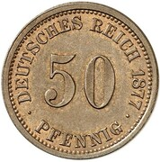 20 Pfennig - Wilhelm I (type 1 - large shield - Pattern) – revers
