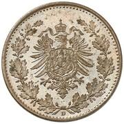 50 Pfennig - Wilhelm I (type 1 - large shield - Pattern) – avers