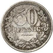 50 Pfennig - Wilhelm I (Pattern) – revers