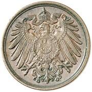 1 Pfennig - Wilhelm II (type 2 - small shield - Pattern) – avers