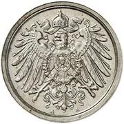2 Pfennig - Wilhelm II (type 2 - small shield - Pattern) -  avers