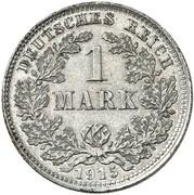 1 Mark - Wilhelm II (type 2 - small shield - Pattern) -  revers