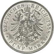 5 Mark - Friedrich III & Wilhelm II  (Pattern) – avers