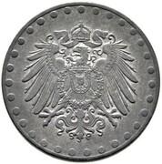 10 pfennig - Wilhelm II (type 2 - grand aigle entouré de points, zinc) – avers