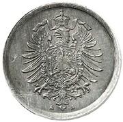 1 Pfennig - Wilhelm II (type 1 - large shield - Pattern) – avers
