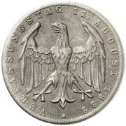 3 Mark (Weimar Constitution - Pattern) – avers