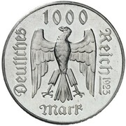 1000 Mark (Friedrich Schiller - Pattern) – avers