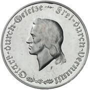 1000 Mark (Friedrich Schiller - Pattern) – revers