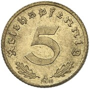 5 Reichspfennig (Pattern) – revers