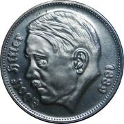 Reichsmark Adolf Hitler – avers