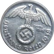 Reichsmark Adolf Hitler – revers