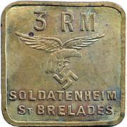 3 Reichmarks Saint Brelades (uniface) – avers