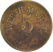5 Pfennig (Werth-Marke) – avers