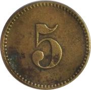 5 Pfennig (Werth-Marke) – revers
