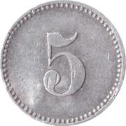 5 Pfennig (Werth-Marke; Aluminium; Contremarque) – revers
