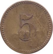 5 Pfennig (Werth-Marke; Brass; 18.0 mm; Couintermarked) – revers