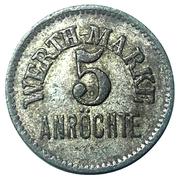 5 wert-marke (Anröchte) – avers