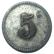 5 wert-marke (Anröchte) – revers